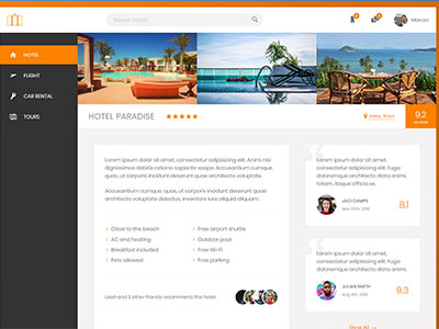 Online booking app template